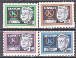 URUGUAY  714-5,  C 269-70   *   JF KENNEDY - Uruguay