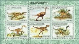 m7112a Mozambique 2007 Dinosaur s/s Michel:2964-2969 Scott:1766