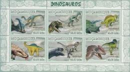 m7113a Mozambique 2007 Dinosaur II s/s Michel:2970-2975 Scott:1780