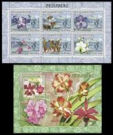 m7123ab Mozambique 2007 Orchid s/s Michel:2912-2917,2921 Scott:1782,1805