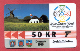 DENMARK:DK-JS-02 World Masters Games (1989). 2JYDB 50 Kr - Denmark
