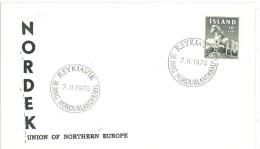ISLANDA - MARCOFILIA - NORDEK 1970 - FDC - FDC