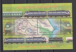 Trein, Train, Locomotive, Railway: Azerbaijan 2012 Blok 121 Baku-Tbilisi-Kars Railway - Treinen