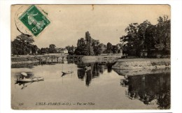 Cp , 95 , L'ISLE ADAM , Vue Sur L'OISE , Voyagée 1908 - L'Isle Adam