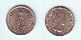 Malaya & British Borneo 5 Cents 1961 - Malaysie