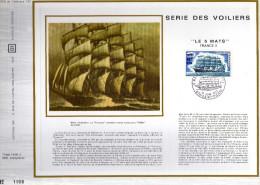 Feuillet Tirage Limité CEF CFA Réunion 11 Série Des Voiliers Bateau Le 5 Mats France II - Réunion (1852-1975)