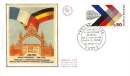 FRANCE Enveloppe 1er Jour 1973 COOPERATION FRANCO ALLEMANDE - EV39 - 1970-1979