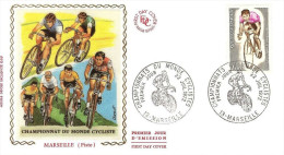 FRANCE Enveloppe 1er Jour 1972 CHAMPIONNATS CYCLISME MARSEILLE - EV159 - 1970-1979