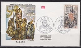= Enveloppe 1er Jour Le Chevalier Bayard 38 Pontcharra 8.11.70 N°1617 à La Bataille De Brescia - Célébrités