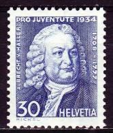 Schweiz 1934 - 283 **/ Michel - Nuovi