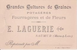 Grandes Cultures De Graines - Potagères, Fouragères De Fleurs - E. Laguerie, Saumur (Maine&Loire) (2633) - Publicidad