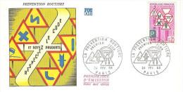 FRANCE Enveloppe 1er Jour 1968 PREVENTION ROUTIERE - F282 - 1960-1969