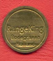 F2440 / - RANGE KING BODEGRAVEN HOLLAND - (Machine Tokens)- 23 Mm - Jeton Token  Gettone - Netherlands Nederland - Casino