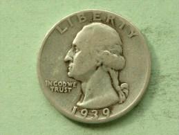 1939 - Quarter / KM 164 ( Uncleaned - For Grade, Please See Photo ) ! - Emissioni Federali