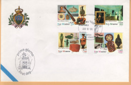 23016 San Marino 2001 23/06/2001 Nuovo Museo Di Stato - FDC