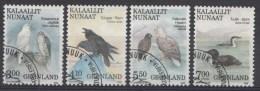 Groenland Mi.nr.181-184 Vögel 1988 Oblitérés / Used / Gestempeld - Groenland