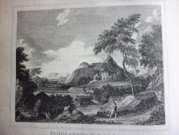 La Gréce Antique , Environs D'Athénes Et Du Cap Sunium , Gravure De 1884 Avec Texte - Historische Dokumente