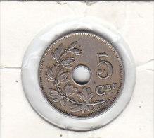 5  CENTIMES Cupro-nickel Léopold II 1914 FL - 1909-1934: Albert I