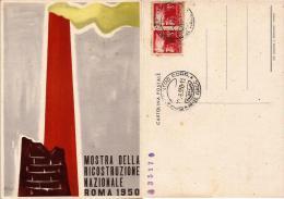 ROMA MOSTRA RICOSTRUZIONE NAZIONALE 1950 ILLUSTRATORI MONTI & PEROTTI ANN SPEC - Manifestazioni