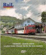 TRAINS : SUISSE (JURA VAUDOIS) Chemin De Fer YVERDON - SAINTE-CROIX  DVD La Vie Du Rail - Documentary