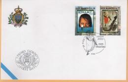 23030 San Marino 2003 FDC 18/03/2003 Europa - FDC
