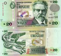 URUGUAY 20 PESOS 2000 P 83 UNC - Uruguay