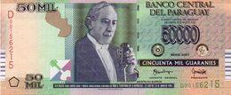 Paraguay - 50.000 Guaranies Date: 2011 - Paraguay