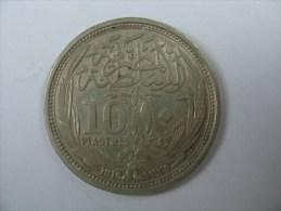 EGYPT 10 PIASTRES 1916  SILVER . - Egipto