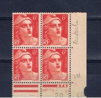 France:varietes Marianne De Gandon 6f 1946 - Abarten Und Kuriositäten
