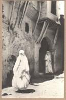 CPA RPPC Photo Alger Femmes Arabes Rue De La Mer Rouge - Vollenweider - Donne
