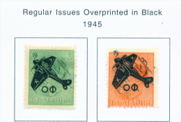 BULGARIA  -  1945  Air Stamps  Mounted Mint - 1909-45 Kingdom