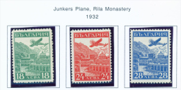 BULGARIA  -  1932  Air Stamps  Mounted Mint - 1909-45 Kingdom