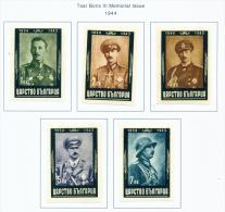 BULGARIA  -  1944  Boris III Mourning Issue  Imperf  Mounted Mint - 1909-45 Kingdom