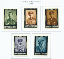 BULGARIA  -  1944  Boris III Mourning Issue  Mounted Mint - Unused Stamps
