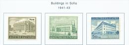 BULGARIA  -  1941  Buildings In Sofia  Mounted Mint - 1909-45 Kingdom