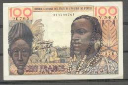 AOF Ivory Coast  Cote D´ivoire 100 Fr 1964 XF - Billets