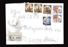 Italia St. Post.  1983 - Racc. A R. - Tim. 21/03/1988. Castelli £ 2x1400 Caldoresco- Vasto + 200+altro - 6. 1946-.. Repubblica