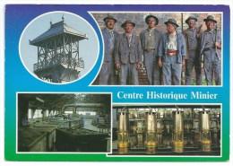 Cpsm: 59 LEWARDE Centre Historique Minier, Le Chevalement, Groupe De Mineurs, Le Moulinage, La Lampisterie. - France
