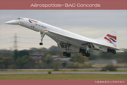 [ T10-079 ]  Supersonic Aérospatiale-BAC Concorde Aircraft Airplane  , China Pre-stamped Card, Postal Stationery - Concorde