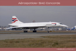 [ T10-080 ]  Supersonic Aérospatiale-BAC Concorde Aircraft Airplane  , China Pre-stamped Card, Postal Stationery - Concorde
