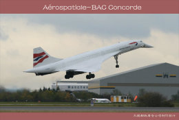[ T10-081 ]  Supersonic Aérospatiale-BAC Concorde Aircraft Airplane  , China Pre-stamped Card, Postal Stationery - Concorde