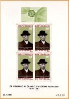 EUR67-L4 - Senegal BF 4 Neuf** Chancelier Adenauer EUROPAFRIQUE