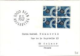 EUR67-L6 - SUISSE FDC EUROPA 1967 Avec Bloc De 4 - Suisse