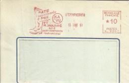 Lettre Flamme EMA Havas Secap  KA VU Pate Vulcanisante Botte  Caoutchouc 1961 Thematique Saint Symphorien  A19/49 - EMA (Printer Machine)