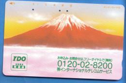 Japan Japon Télécarte Telefonkarte  Phonecard Nr. 110  - 127  Berg Vulkan - Vulkane