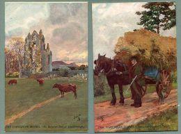 "The Yorkshire Moors Set Of 6 Raphael Tuck ""Oilette"" Postcards 1906 (oo-34) - England"