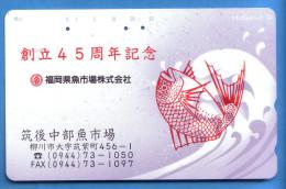Japan Japon Télécarte Telefonkarte  Phonecard Nr. 110  - 141  Fish Fisch - Vulkane