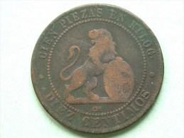 1870 OM - Diez ( 5 ) Centimos / KM 663 ( For Grade, Please See Photo ) !! - Monedas Provinciales