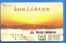 Japan Japon Télécarte Telefonkarte  Phonecard Nr. 110  - 227  Sonne - Vulkane