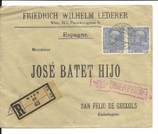 Lettre    Autriche 1915 (424) Pour Espagne - 1850-1918 Empire